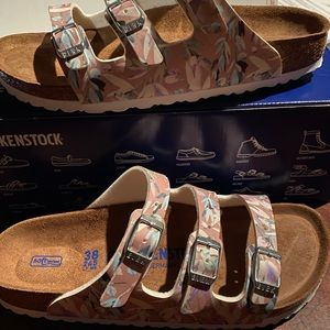 Birkenstock Florida rose floral 7 narrow new